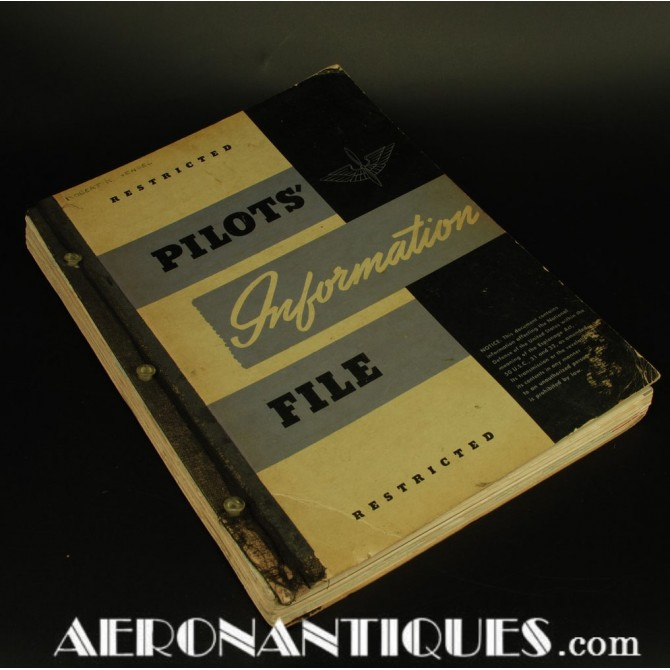 1944 Edition WWII US Army Air Force Pilot Information File Book
