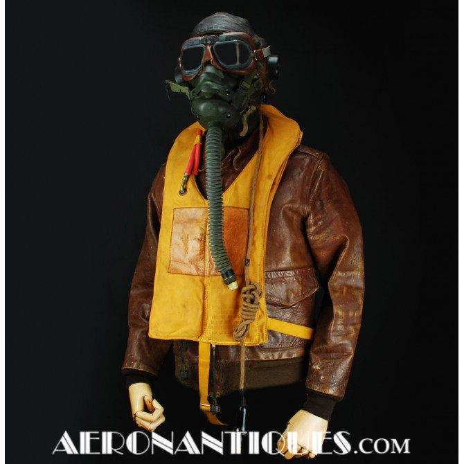 Original WWII US Army Air Force Pilot A-2 Horsehide Jacket