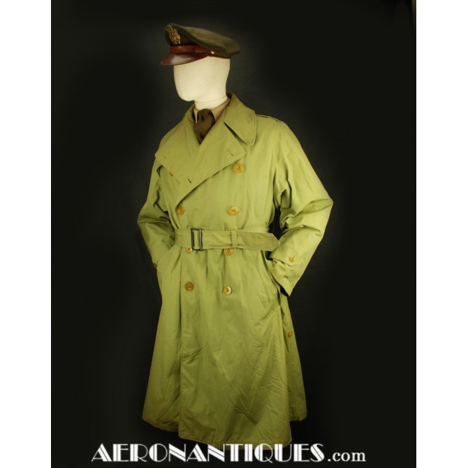 WWII US Army Officers Overcoat Trench Coat
