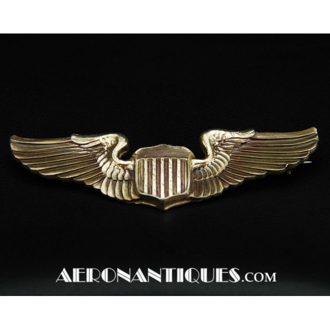 WWII US Army Air Force Pilot Amico Sterling Wings Badge