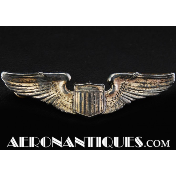 WWII US Army Air Force Pilot Luxenberg Sterling Wings Badge