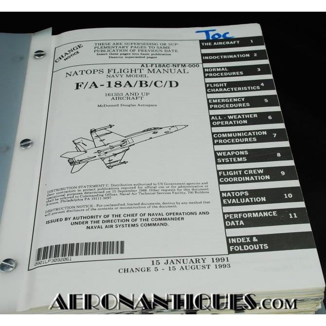 F-18 Hornet NATOPS Flight Manual Pilot USN US Navy