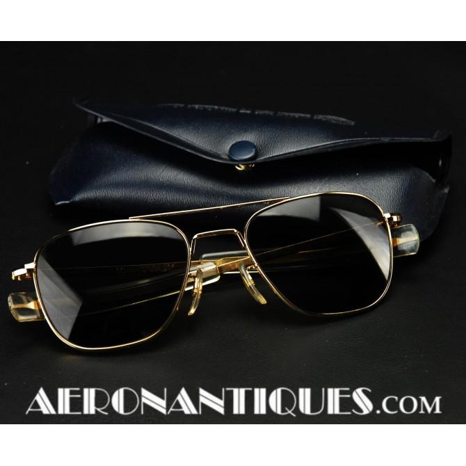 Vintage US Air Force Navy Pilot American Optical 5 1/2 Sunglasses
