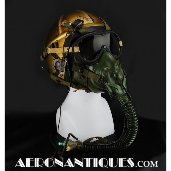 1950's H-3 US Navy Jet Pilot Flight Helmet & Mask