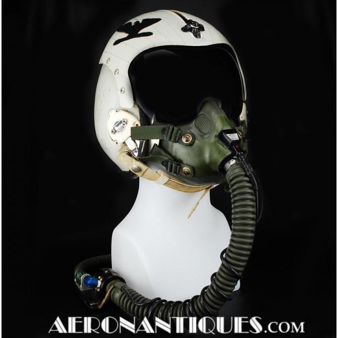 US Navy Pilot Hgu-33 Flight Helmet Mbu-14 Oxygen Mask