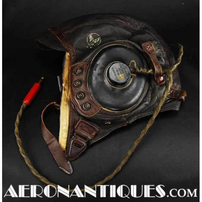 Leather Flying Helmet A-11 US Army Air Force Pilot WWII