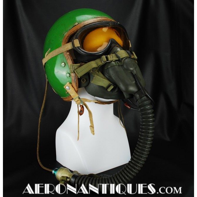 US Air Force P-1 Jet Pilot Flight Helmet + Oxygen Mask