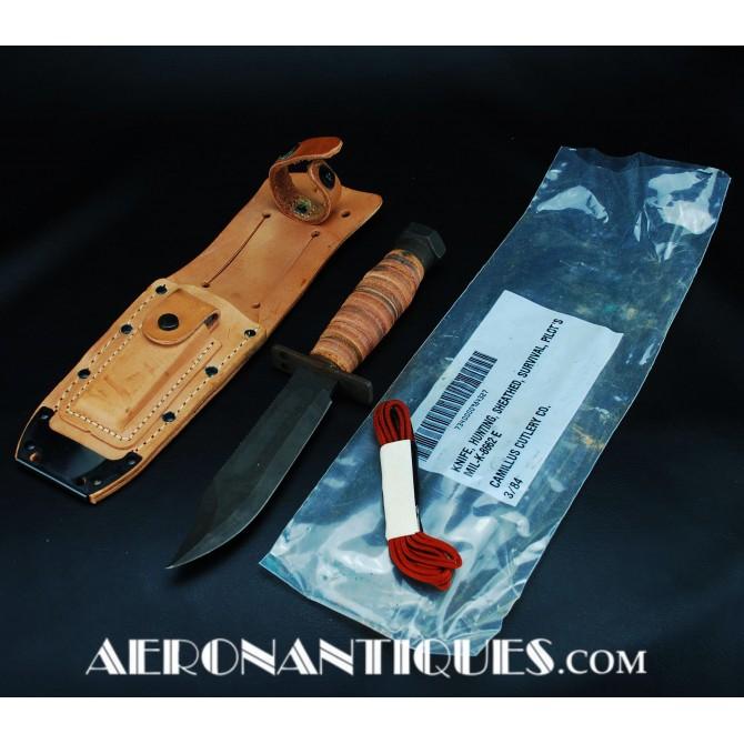 1984 US Air force Camillus Jet Pilot Survival Knife NOS