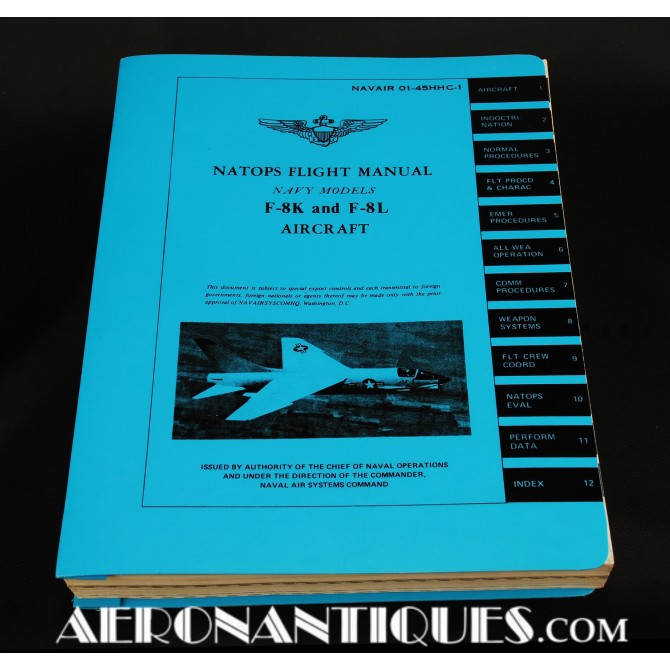 1971 F-8 Crusader NATOPS Flight Manual Pilot US Navy