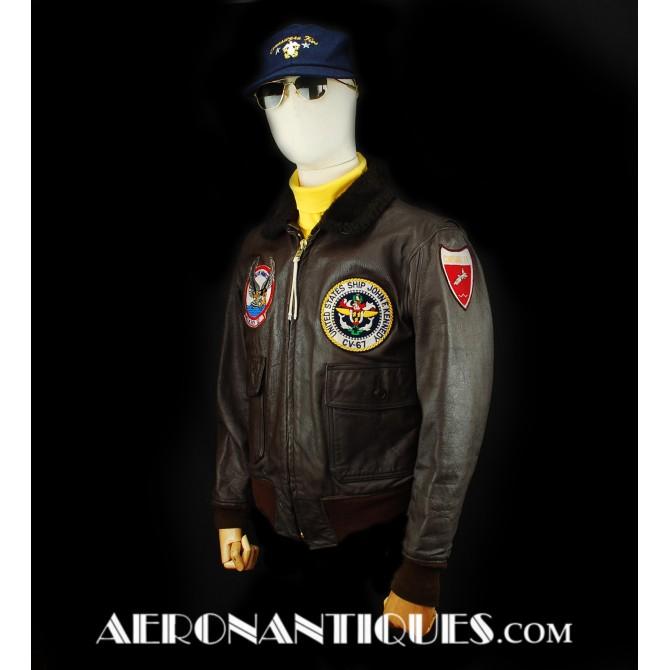 1972 US Navy Pilot G-1 Leather Flight Jacket Size 42