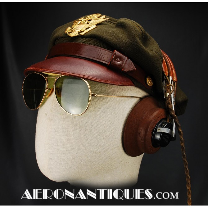 WWII US Army Air Force Pilot Bancroft Crusher Hat