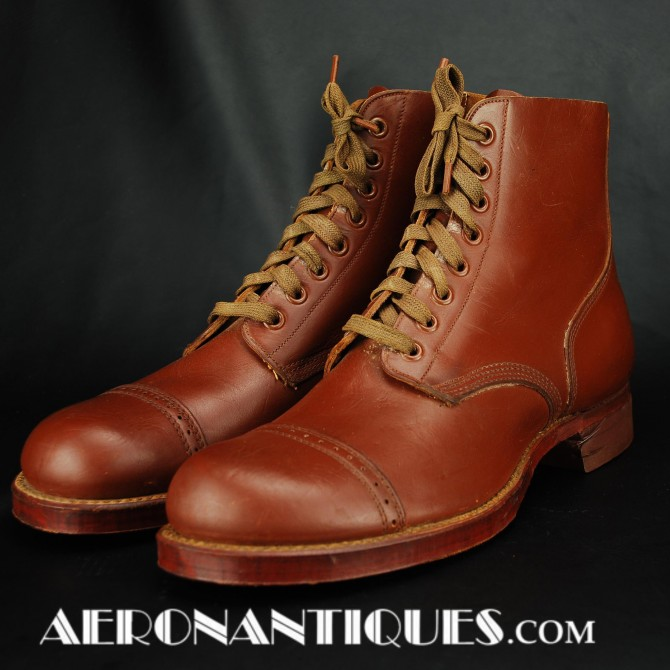 WWII US Army Air Force Combat Service Shoes Boots