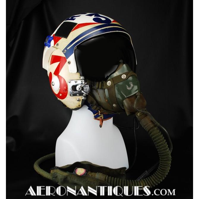 RVAH-3 A-5 Vigilante Pilot APH-6 Flight Helmet & Mask