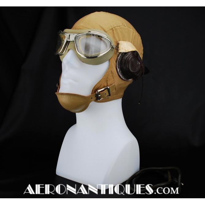 M-450 WWII US Naval Aviation Flying Helmet Navy