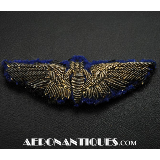 WWII US Army Air Force Bullion Bomber Wings Badge