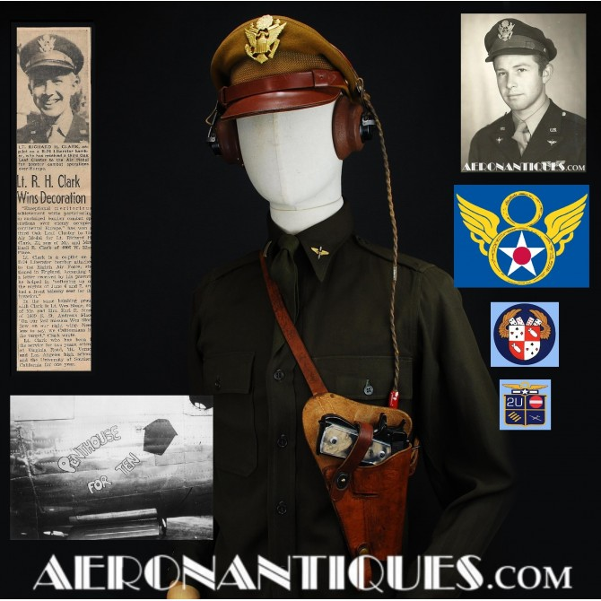WWII 8th Air Force Named KIA Pilot 45 Pistol Holster
