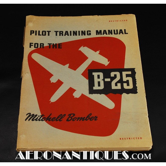 Manuel Pilote B-25 Mitchell US Army Air Force WWII