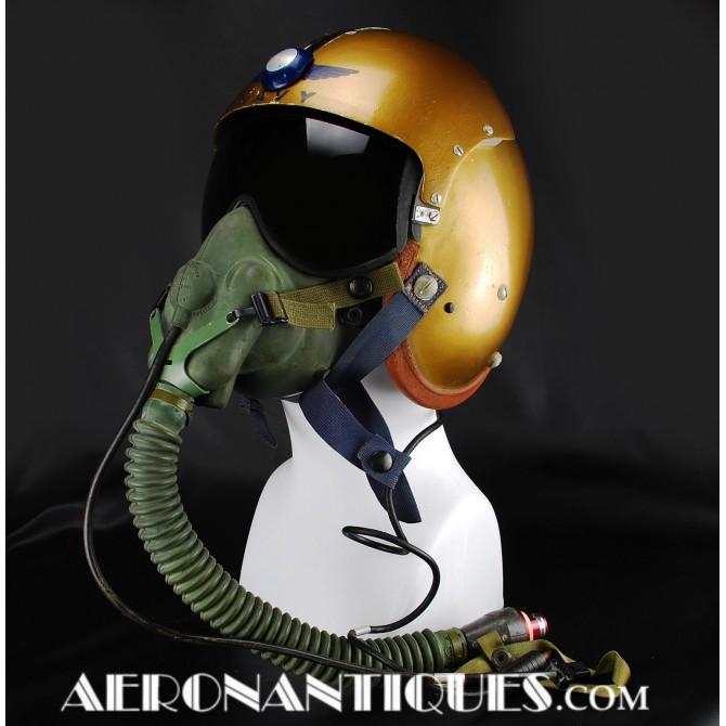 US NAVY APH-5 Pilot Flight Helmet & Oxygen Mask
