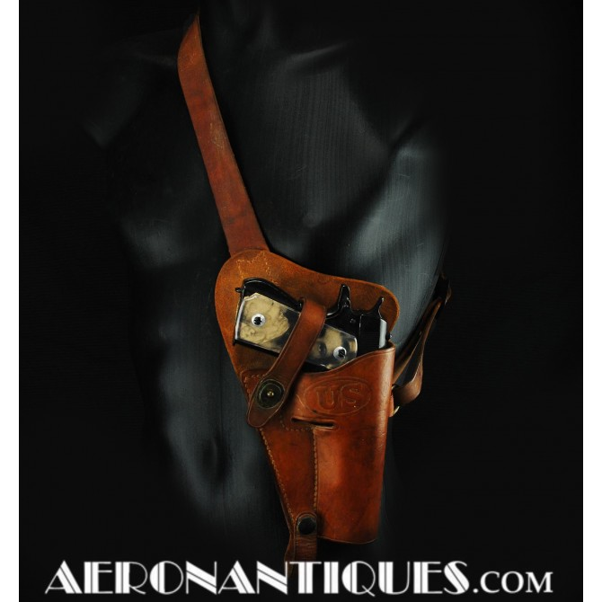 1944 WWII 45 Pistol Leather Holster Pilot USAAF WWII