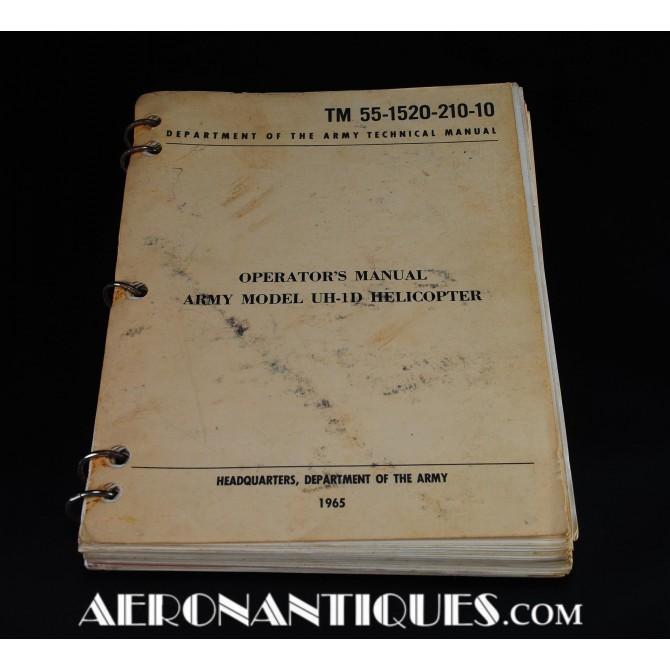 1965 Vietnam UH-1 Huey Helicopter Pilot Manual