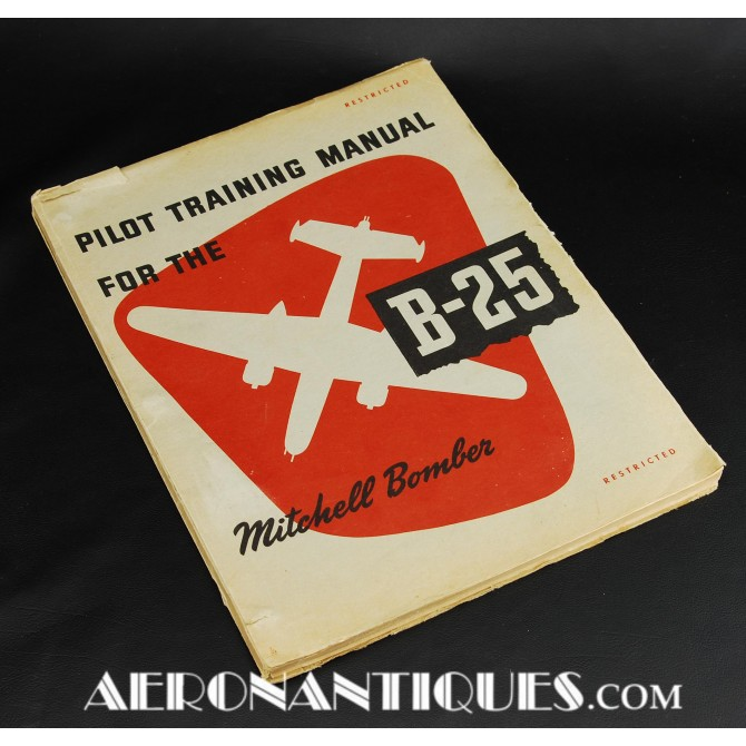WWII US Army Air Force B-25 Mitchell Flying Manual