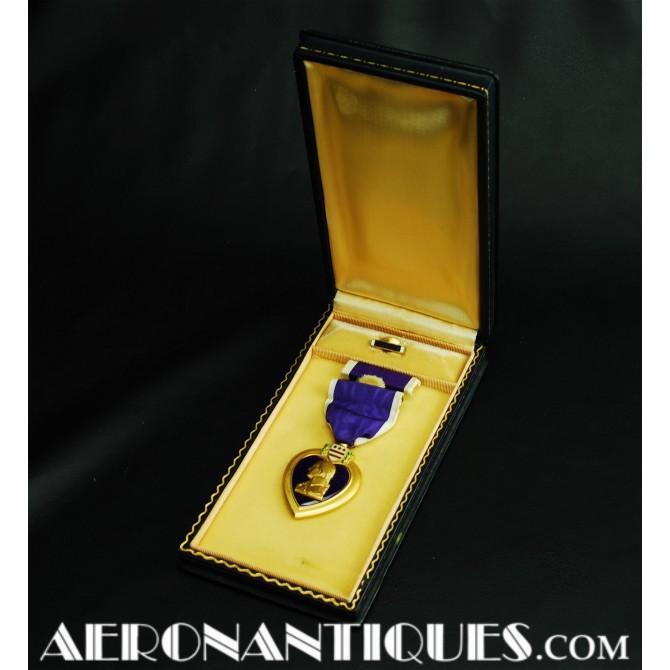 WWII US Purple Heart Award Decoration Medal