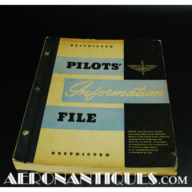 1943 WWII US Army Air Force Pilot Information File