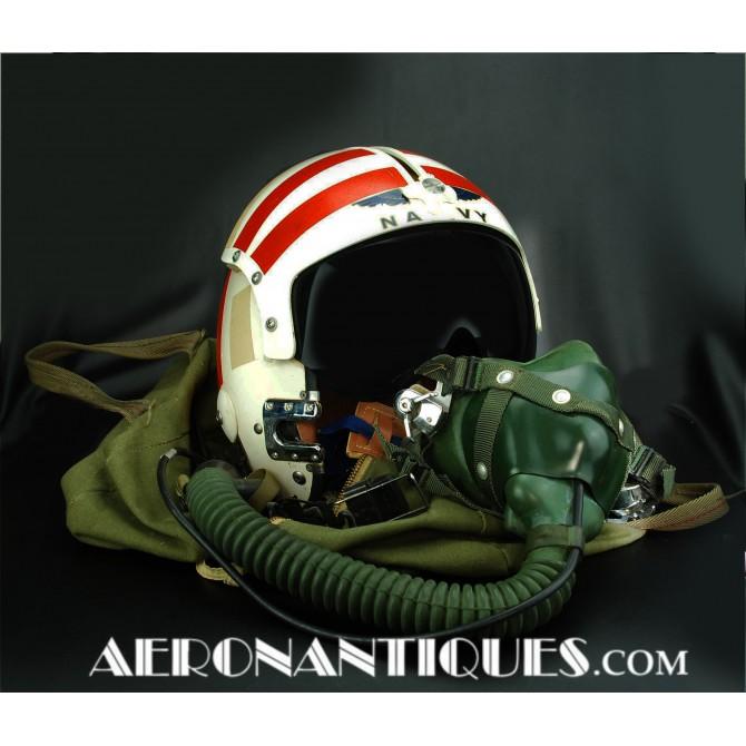 1967 US Navy Pilot Jet APH-6 A Helmet & Mask Vietnam