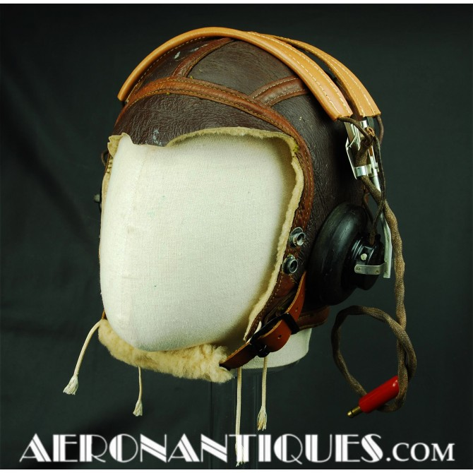 B-6 Flying Helmet US Army Air Force Pilot WWII
