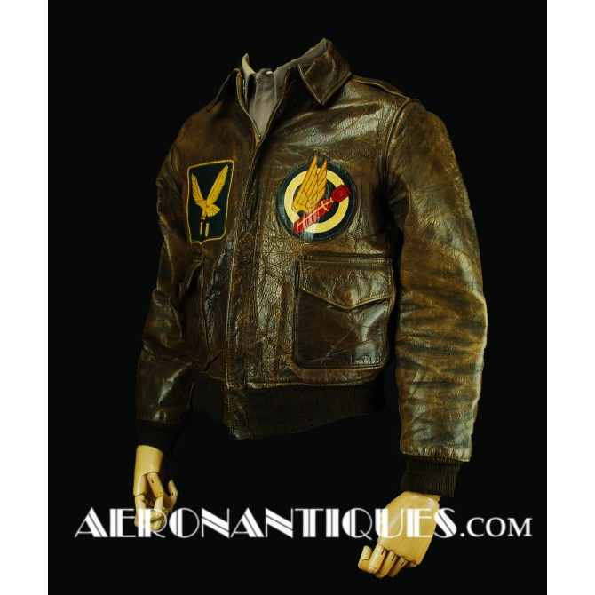 WWII US Army Air Force Pilot A-2 Leather Flight Jacket