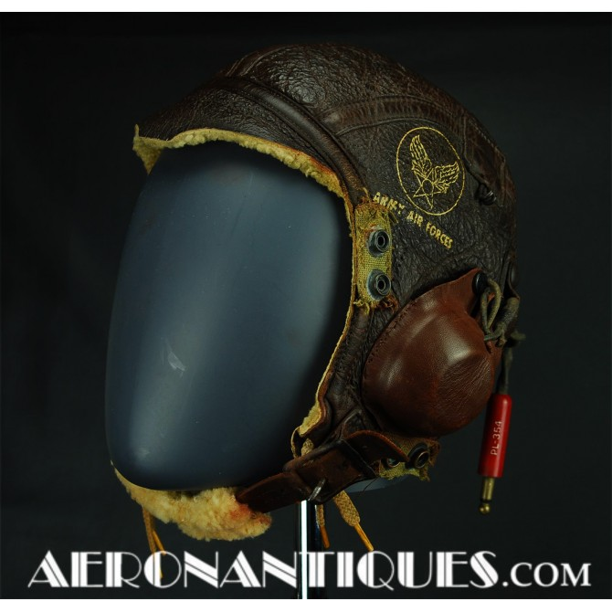B-6 Leather Flying Helmet US Army Air Force Pilot