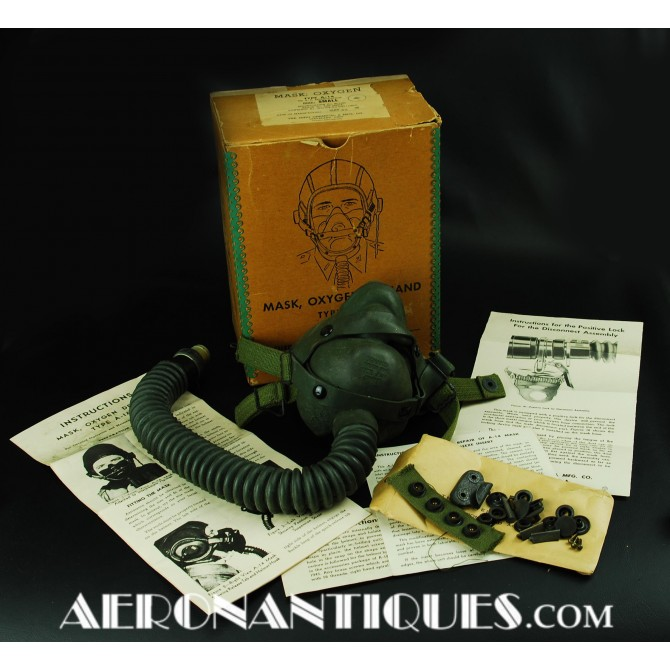 US Army 8th Air Force Pilot A-14 Oxygen Mask WWII