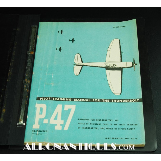 US Army Air Force P-47 Thunderbolt Pilot Manual
