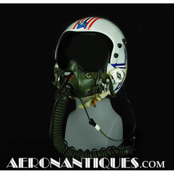 US Marine Pilot Hgu-33 Flight Helmet & Oxygen Mask