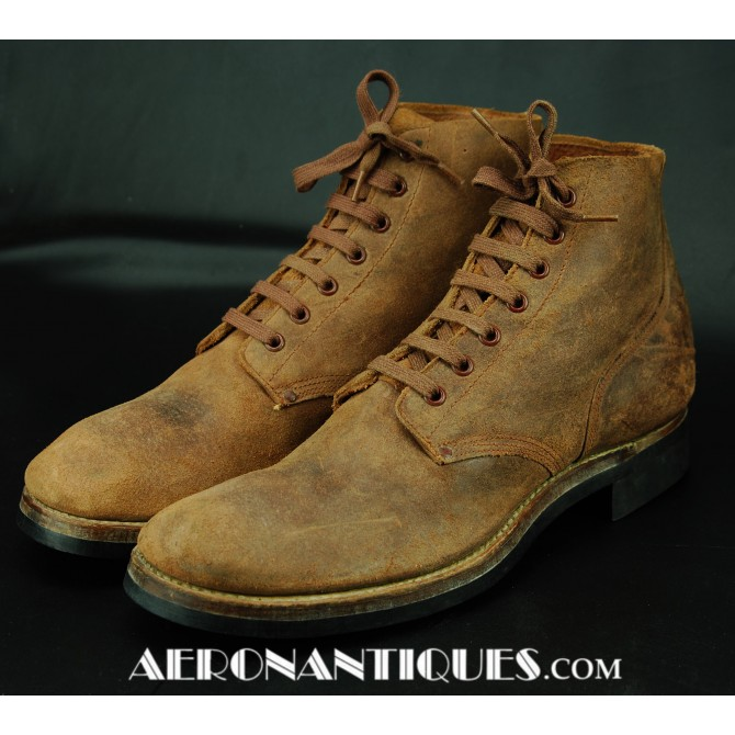 WWII US Army Pilot Combat Service Shoes Boots