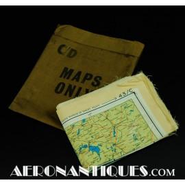 WWII Pilot Escape Silk Map...