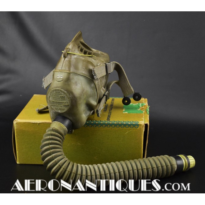 US Army Air Force Pilot A-10 Oxygen Mask WWII USAAF