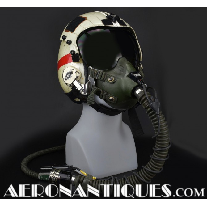 US Navy Pilot Hgu-33 Flight Helmet & Mbu-14 Mask