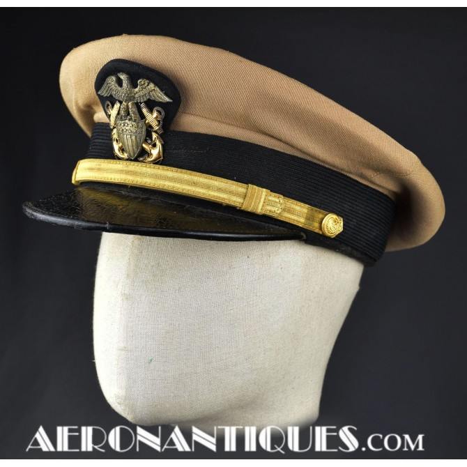 WWII US NAVY Junior Officers Visor Hat USN