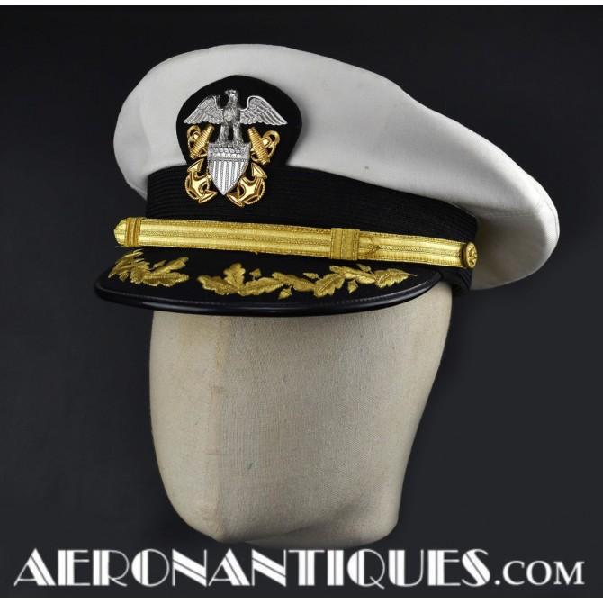 Bancroft US NAVY Senior Officers Visor Hat Cap
