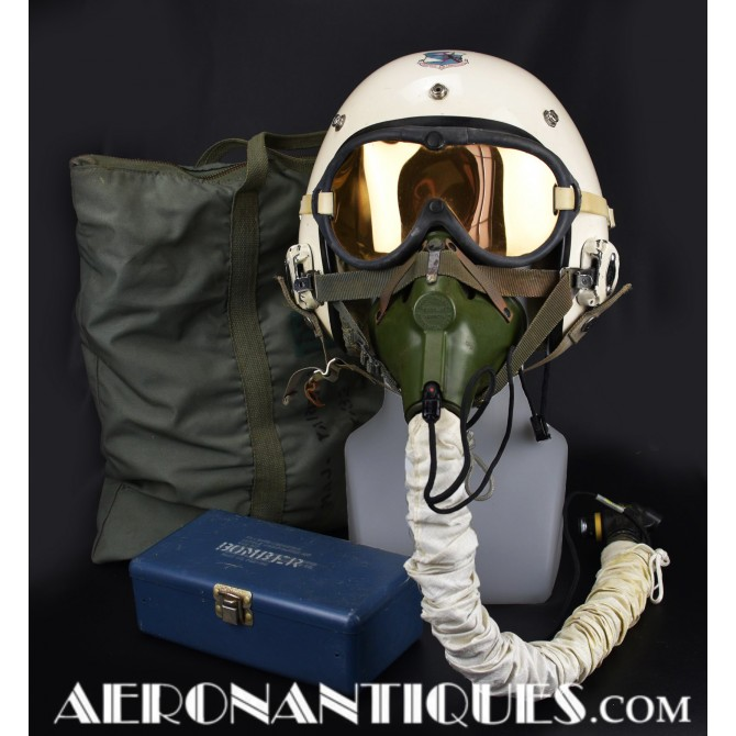 HGU-9 Bill Jack Flight Helmet & Mask B-58 Pilot USAF