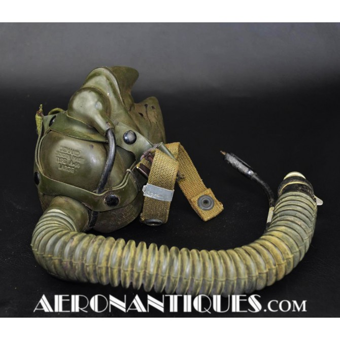 US Army Air Force Pilot A-14 Oxygen Mask WWII USAAF
