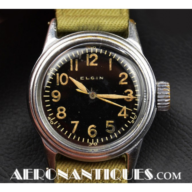 1942 A-11 ELGIN US Army Air Force Pilot Watch