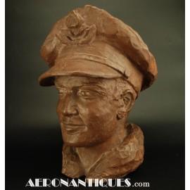 Buste Sculpture Pilote RAF...