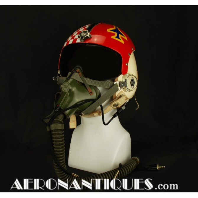 HGU-2A/P USAF US Air Force Pilot Flight Helmet & MBU5/P Mask