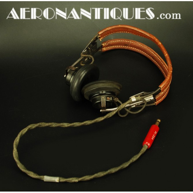 HS-33 Headset US Army Air Force Bomber Pilot WWII