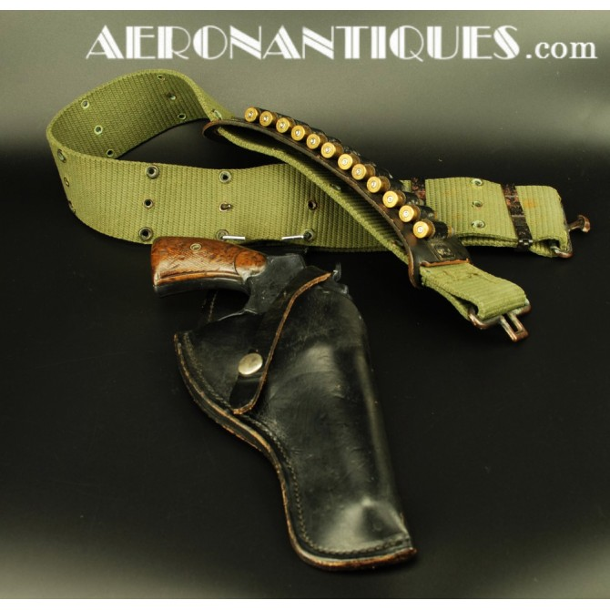 US Air Force Vietnam Pilot Revolver Ammo Belt & Holster Set