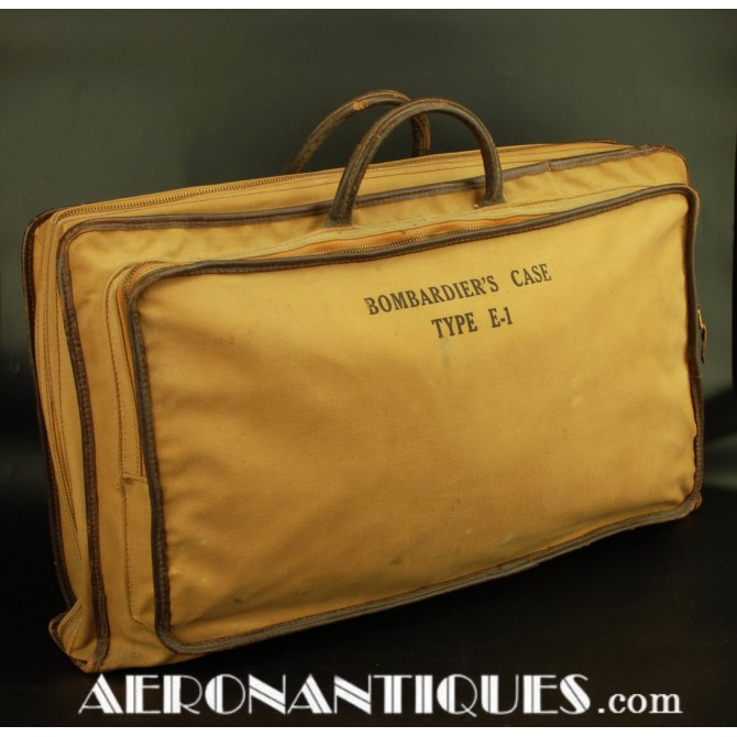 Sacoche Cartable E-1 Bombardier Pilote US Army Air Force WWII