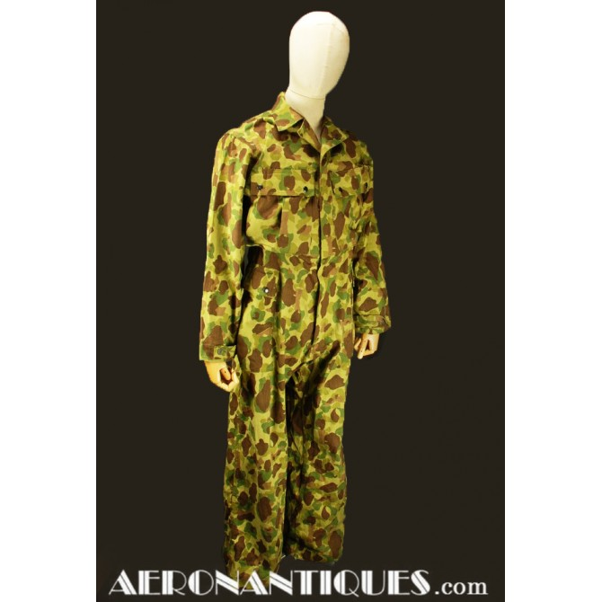 WWII Camo US Army HBT Coveralls Jungle Suit