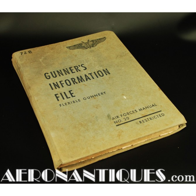 1944 Edition WWII US Army Air Force Gunner Information File Book